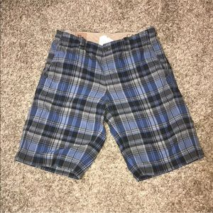 GAP Plaid Shorts Button Fly Casual Flat Front